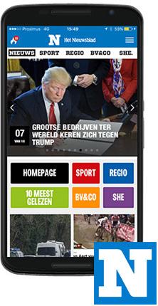 Nieuwsblad Nieuws app Android