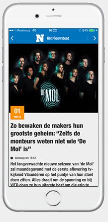 Nieuwsblad Nieuws app iPhone